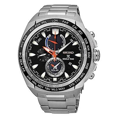 SEIKO PROSPEX世界城市太陽能計時腕錶/V195-0AB0D(SSC487P1)