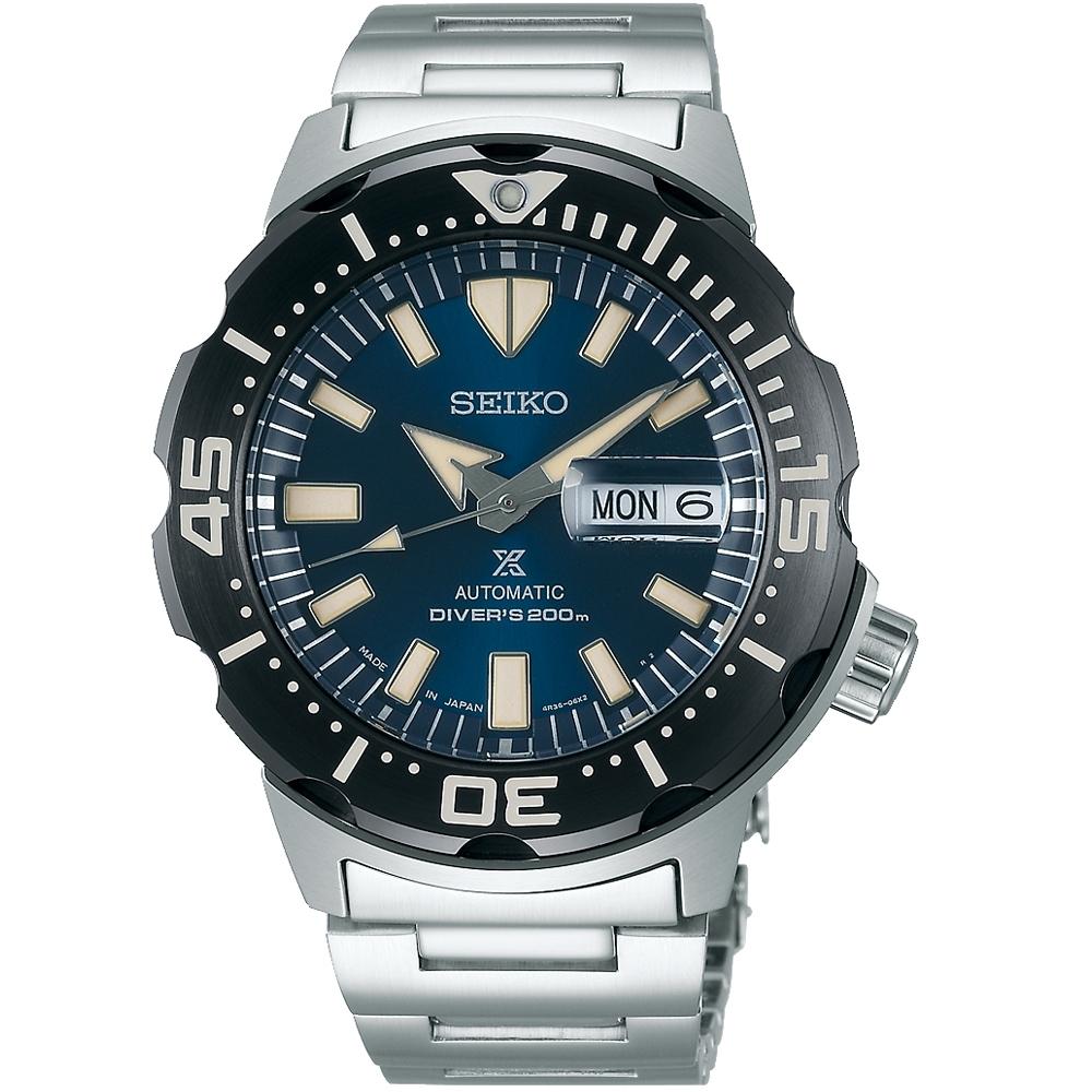 SEIKO精工PROSPEX時尚潮流潛水機械錶(SRPD25J1)-藍