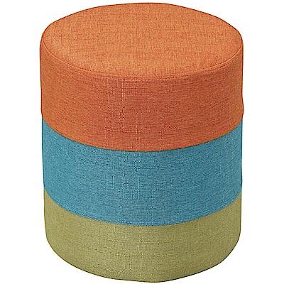文創集 巴哈現代風亞麻布圓椅凳(三色可選)-29x29x34cm-免組