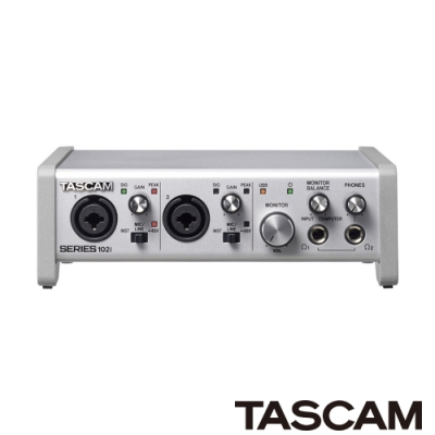 TASCAM 錄音介面 SERIES102i(10in/2out)