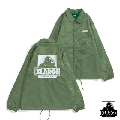XLARGE EMBROIDERY OG COACHES JACKET防風外套-橄欖