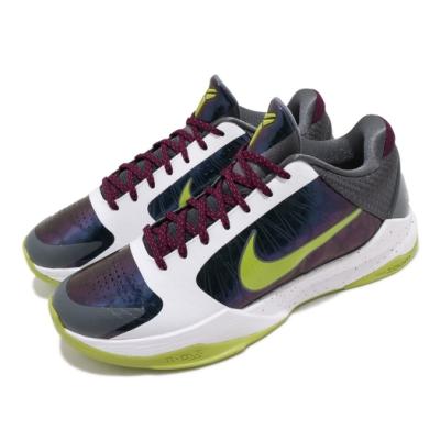 Nike 籃球鞋 Kobe V Protro 運動 男鞋 明星款 曼巴精神 小丑配色 穿搭 白 綠 CD4991100