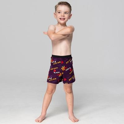 DADADO-我的爸爸是超人 110-130男童內褲(紫) 品牌推薦-舒適寬鬆