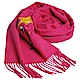 MOSCHINO BOUTIQUE 奧莉薇刺繡圖騰美麗諾羊毛披肩/圍巾(桃紅色) product thumbnail 1