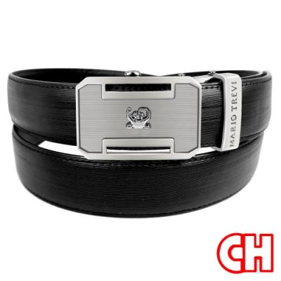 CH-BELT休閒時尚品味自動扣紳士休閒皮帶腰帶(黑)