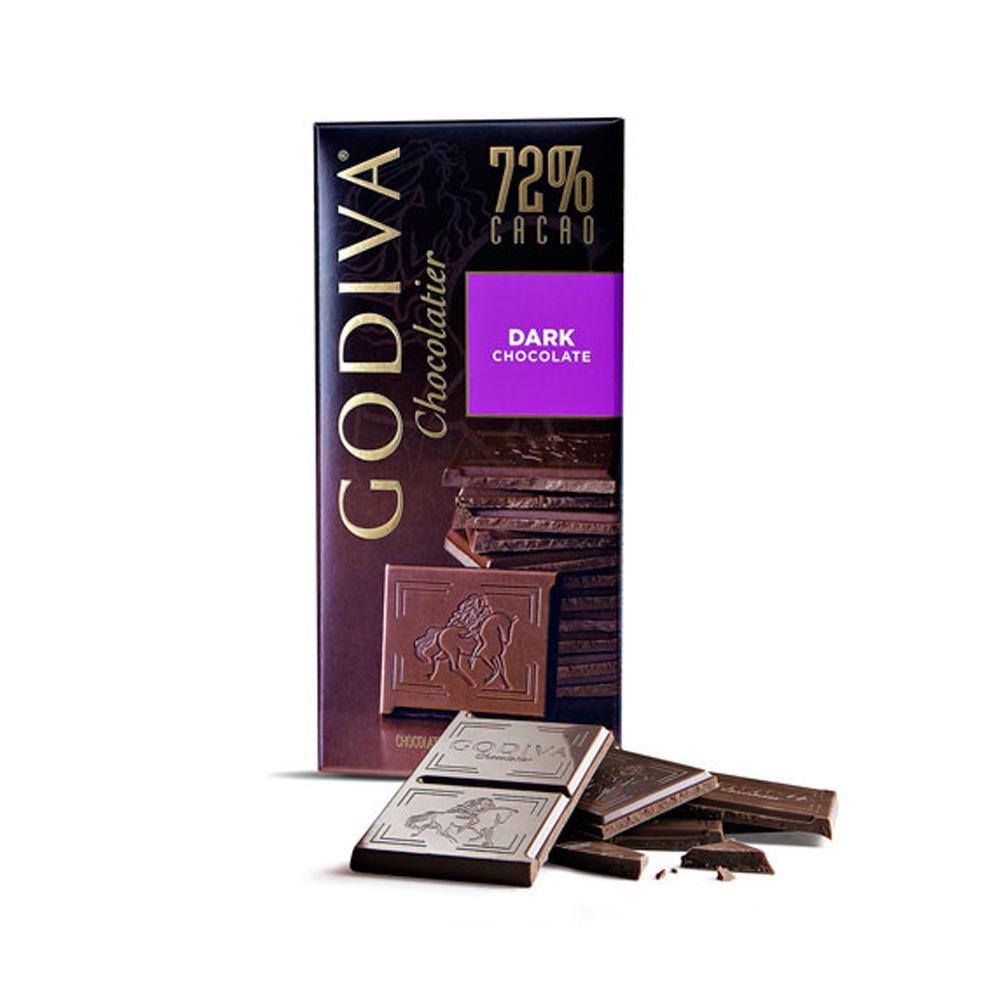 GODIVA 72%黑巧克力(100g/片)