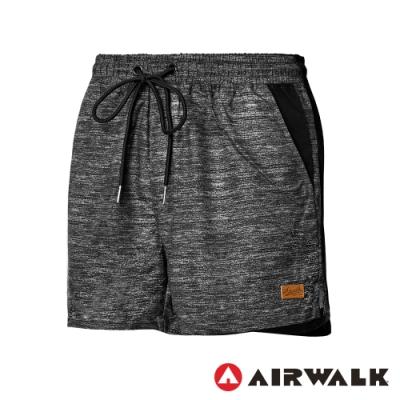 【AIRWALK】平織休閒短褲-女-灰