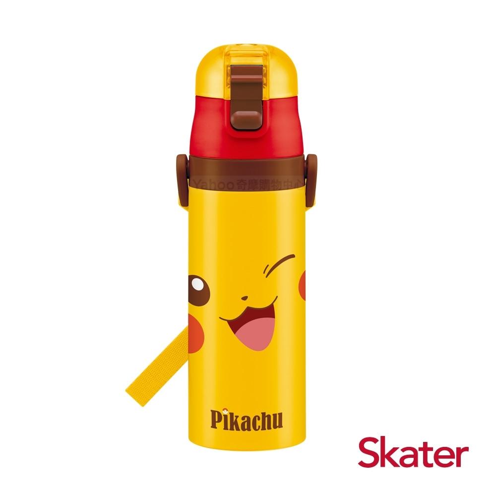 Skater直飲470ml不鏽鋼水壺-皮卡丘FACE