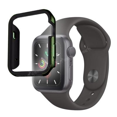 刀鋒Edge Apple Watch Series 5 44mm 鋁合金雙料保護殼 夜幕綠