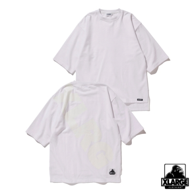 XLARGE S/S SWEAT落肩款短袖T恤-白