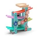 經典木玩 馬卡龍繽紛重力加速玩具車組(幼兒軌道車)18m+