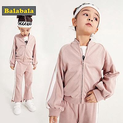 Balabala巴拉巴拉-街頭風格帥氣運動套裝-女(2色)