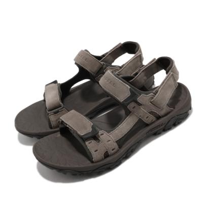 Merrell 涼鞋 Moab Drift 2 Strap 男鞋 避震墊片 麂皮 魔鬼氈 耐磨 抓地 棕 灰 ML033219