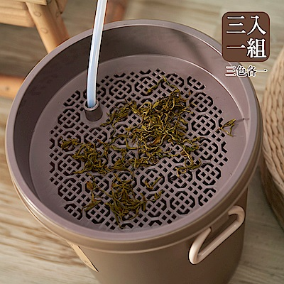 【Mr.Box】新款日式茶渣桶 3入