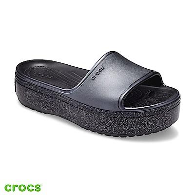 Crocs 卡駱馳 (中性鞋) 厚底卡駱班金屬涼拖 205913-002