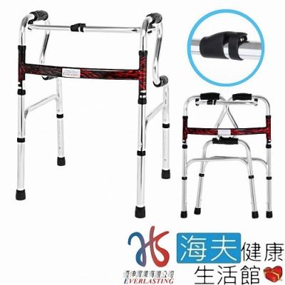 恆伸機械椅 未滅菌 海夫健康生活館 扁圓管 R型搖擺 1吋助行器_ER-3437