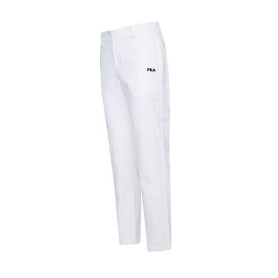 FILA 男平織長褲-白色 1PNT-5479-WT