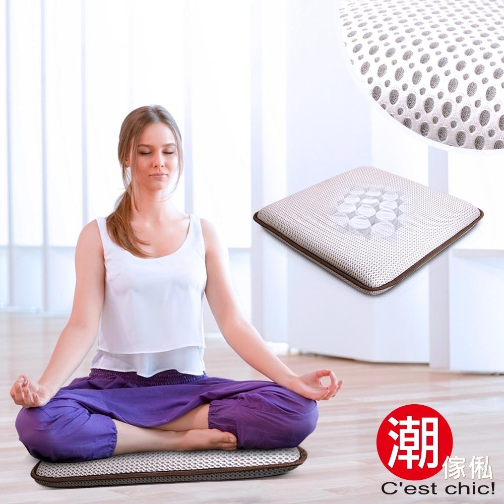 C'est Chic_湖月閣獨立筒透氣瑜珈/打坐/和室墊-靜悅白