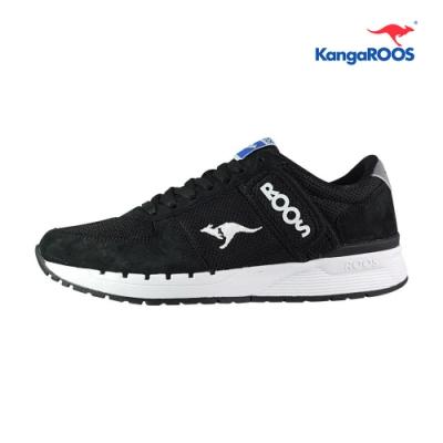 KangaROOS COMBAT 經典口袋男慢跑鞋 黑 KM91010