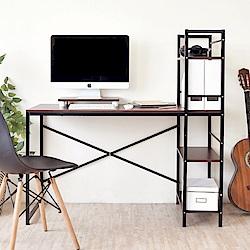 《HOPMA》DIY巧收日系層架工作桌(附主機架)-寬120 x深52 x高120cm