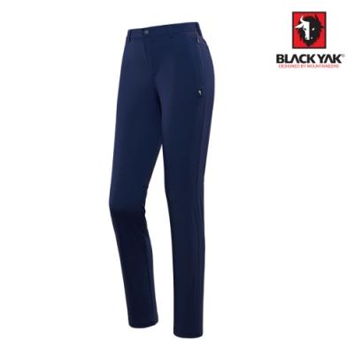 【BLACKYAK】女YAK FREE舒適彈性機能長褲[深藍色]