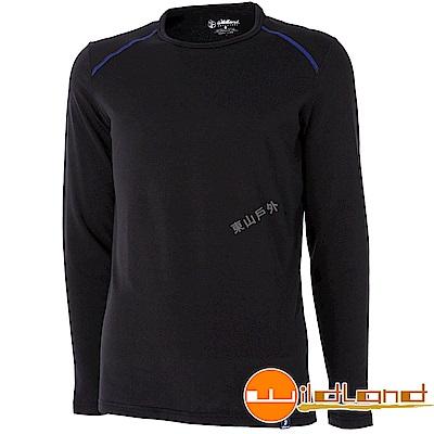 Wildland 荒野 0A52668-54黑色 男輕量抗菌親膚保暖衣