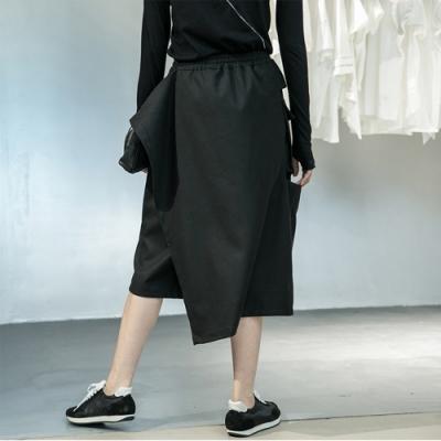 設計所在Style-設計師風格新款韓版加厚假兩件個性大口袋休閒褲裙