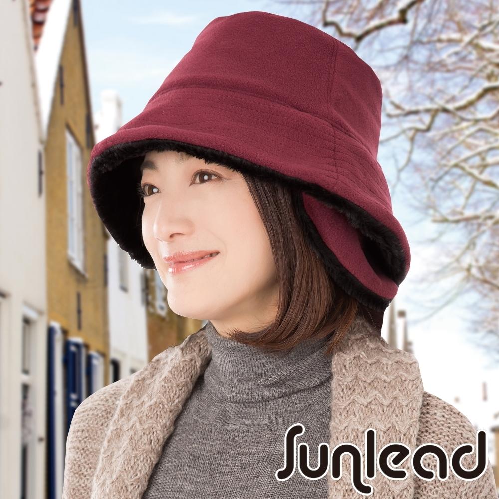 Sunlead 防寒護頸護耳Fleece保暖刷毛軟帽 (酒紅色)
