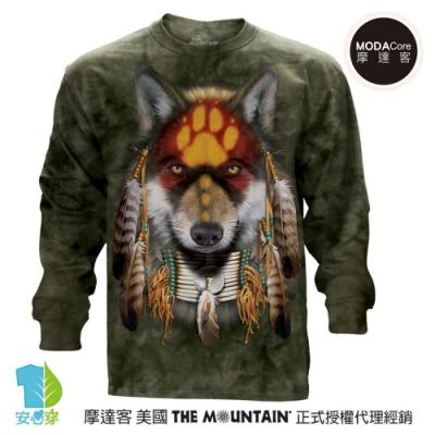 摩達客 美國進口The Mountain 聖靈狼 純棉長袖T恤