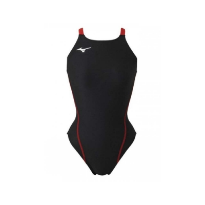 MIZUNO SWIM 女連身泳衣-泳裝 游泳 海邊 競賽 美津濃 N2MA826196 黑紅