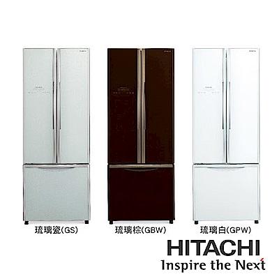 [無卡分期-12期]HITACHI日立421公升三門琉璃電冰箱RG430