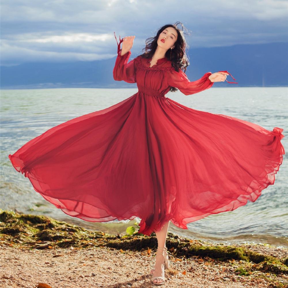 浪漫華麗大圓裙禮服洋裝S-XL-維拉森林