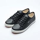 艾樂跑Arriba男款 簡約皮革休閒鞋-黑 (AB-8082)