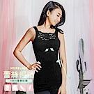 GIAT台灣製180D蕾絲美塑內搭背心(經典黑)