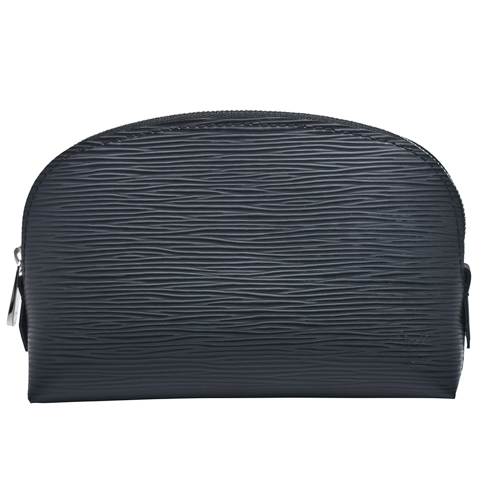 LV M41348 POCHE經典EPI皮革萬用化妝包(黑)