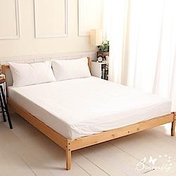 BUTTERFLY-SGS專業級認證抗菌高透氣防水保潔墊-單人床包-白色