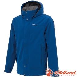 Wildland 荒野 W3912-70寶藍色 男單件式防水透氣外套