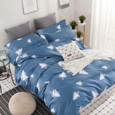 A-ONE 雪紡棉 雙人加大床包/枕套 三件組-森林密語 MIT台灣製