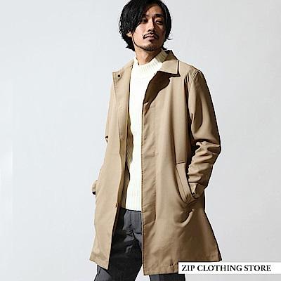 長大衣輕薄外套素色(3色) ZIP日本男裝