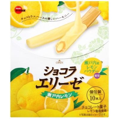 Bourbon北日本 愛麗絲檸檬巧克力風味捲心酥(72g)