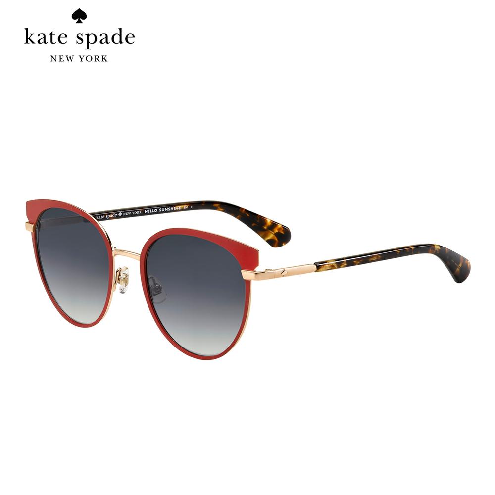 Kate Spade JAZZLYN/S-時尚貓眼太陽眼鏡 紅框