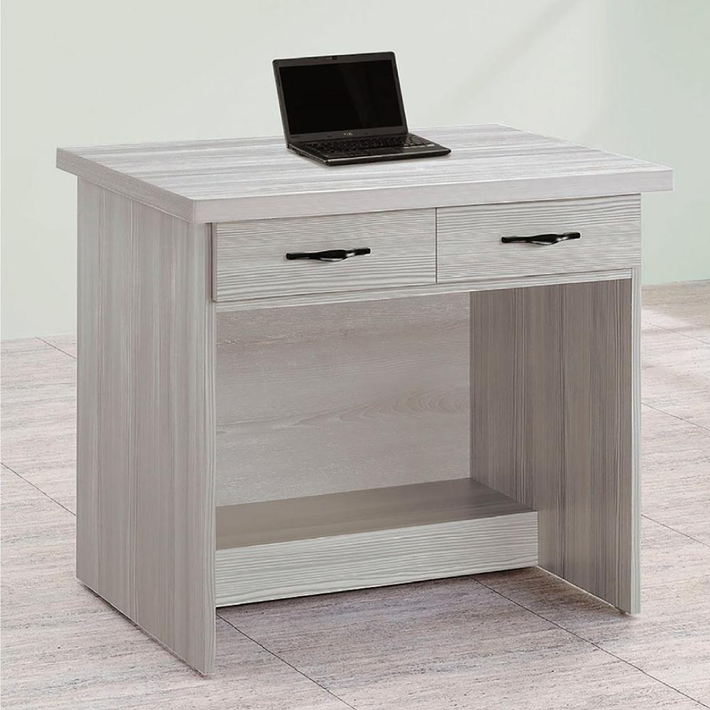 Bernice-白雪杉2.7尺二抽書桌-81×58.5×74cm