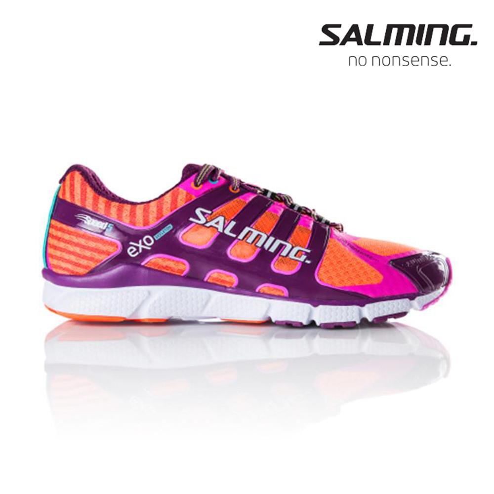 Salming SPEED 5 寬楦 女賽訓慢跑鞋 紫橘