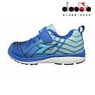 Diadora 兒童慢跑鞋 中童 超寬楦 藍 DA9AKR5796