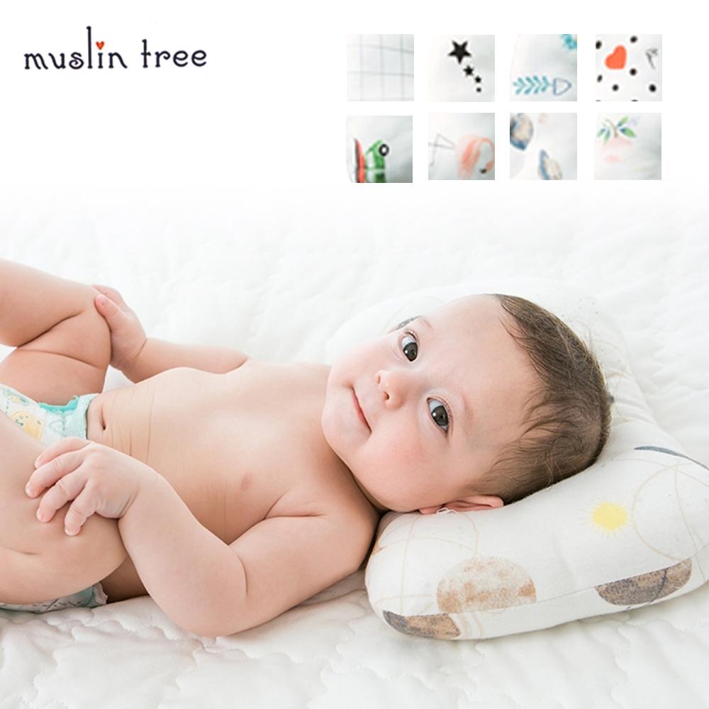MuslinTree兒童枕頭 新生兒防扁頭定型枕