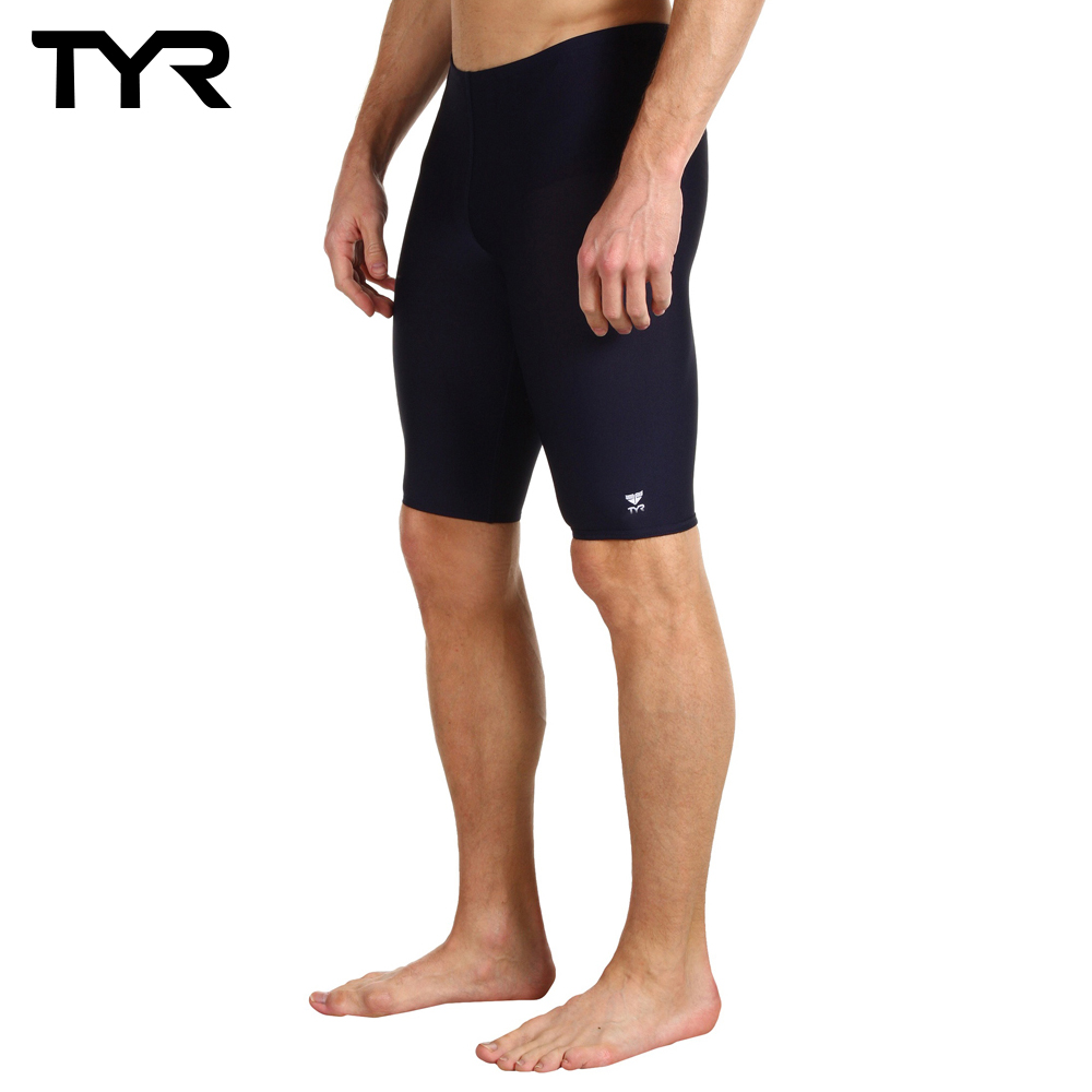美國TYR 男用馬褲黑色訓練款泳褲 Solid Jammer