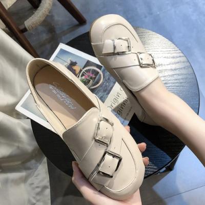 KEITH-WILL時尚鞋館 輕柔寵愛造型樂福鞋-米