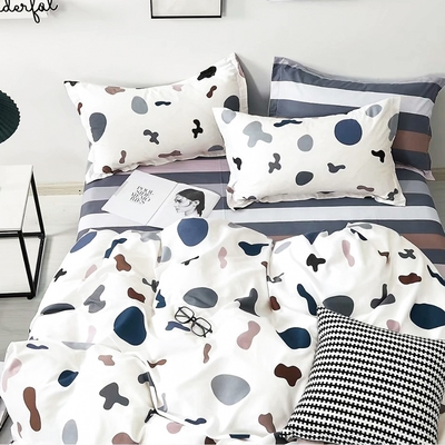 3-HO-100%純棉-單人床包/枕套組-童顏