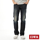EDWIN EDGE LINE 大尺碼 雙口袋中直筒牛仔褲-男-中古藍