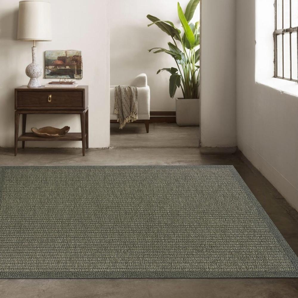 Ambience 比利時Hampton 平織地毯 #90010灰綠 (133x195cm)